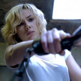 Scarlett Johansson in Lucy with the DPA d:screet 4060 microphone sewn into her shirt
