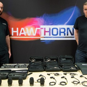 John Curnew from Hawthorns with DPA Microphones