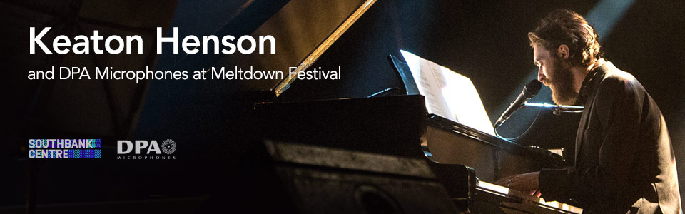 Keaton Henson and DPA Microphones at Meltdown Festival