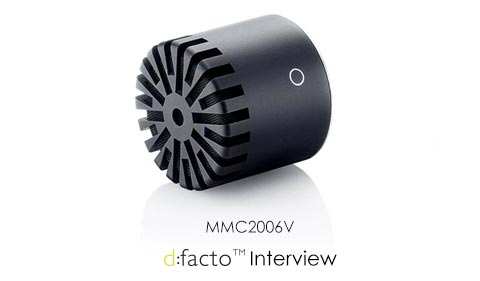 DPA d:facto Interview Mic Capsule - MMC2006V