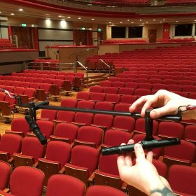 Classical suspended recording rig with DPA d:dicate™ 2011A mics