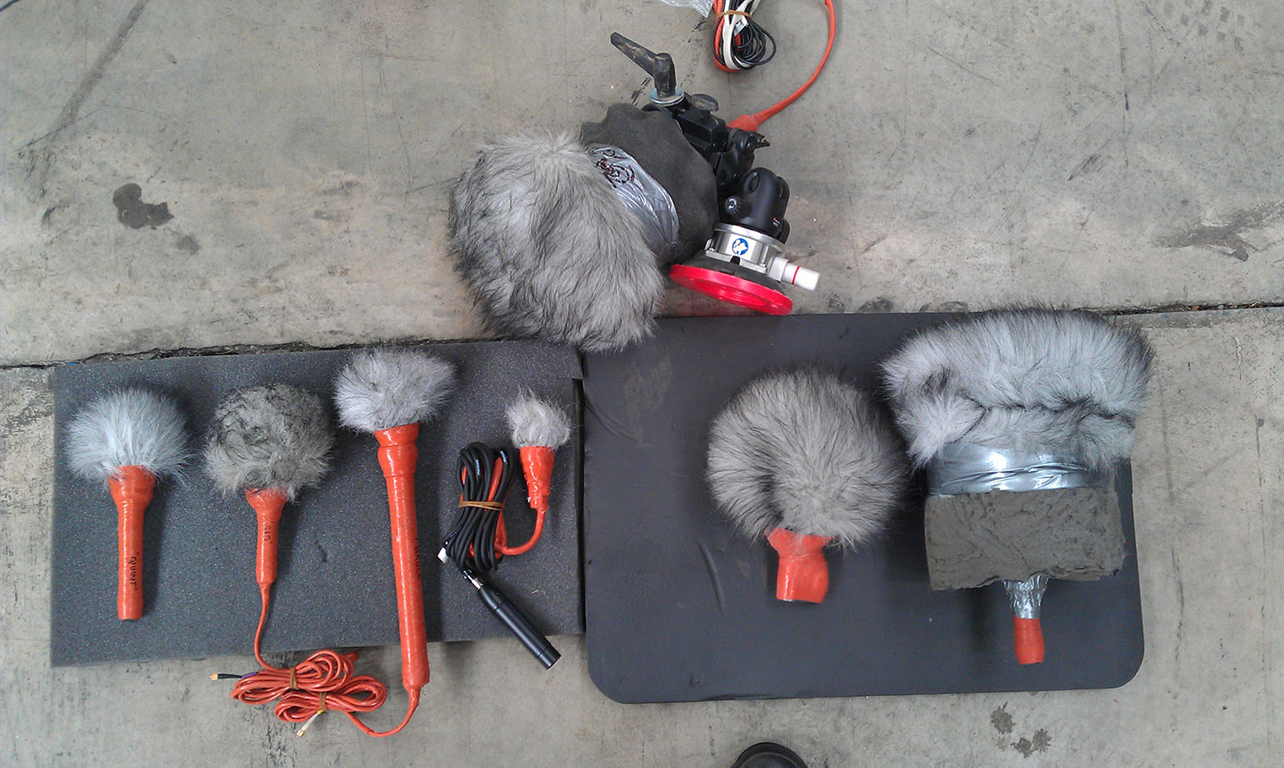 Some of Jojo's mic kit for the job.