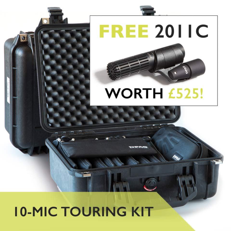 DPA d:vote 4099 10-Mic Touring Kit 2011C Free