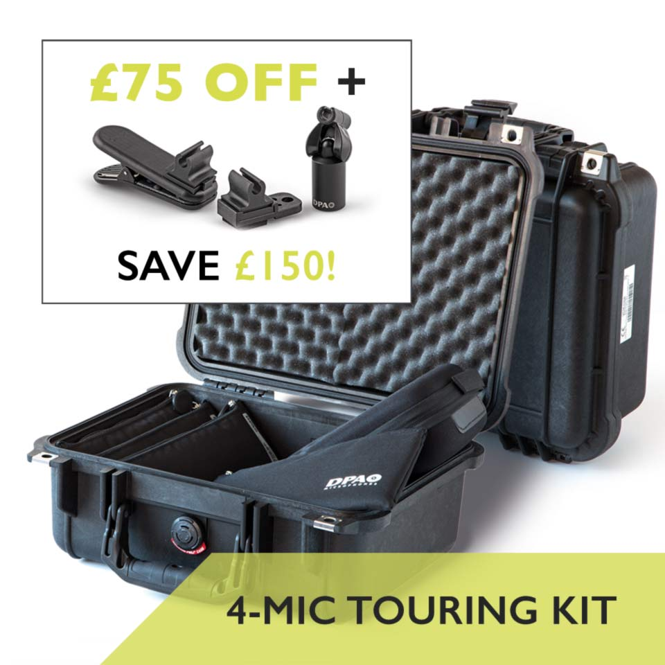 DPA d:vote 4099 4-Mic Touring Kit Free Clips Save £150