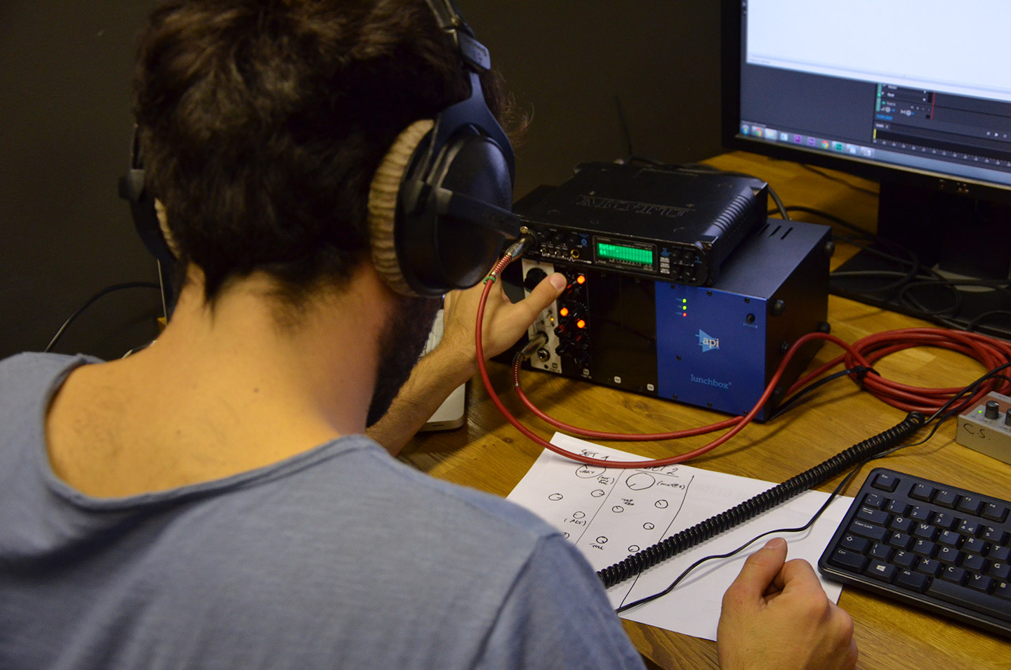iBc Sound creating sound effects for the Videokid game