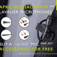 Free Accessories with DPA d:screet™ Mics April 2017