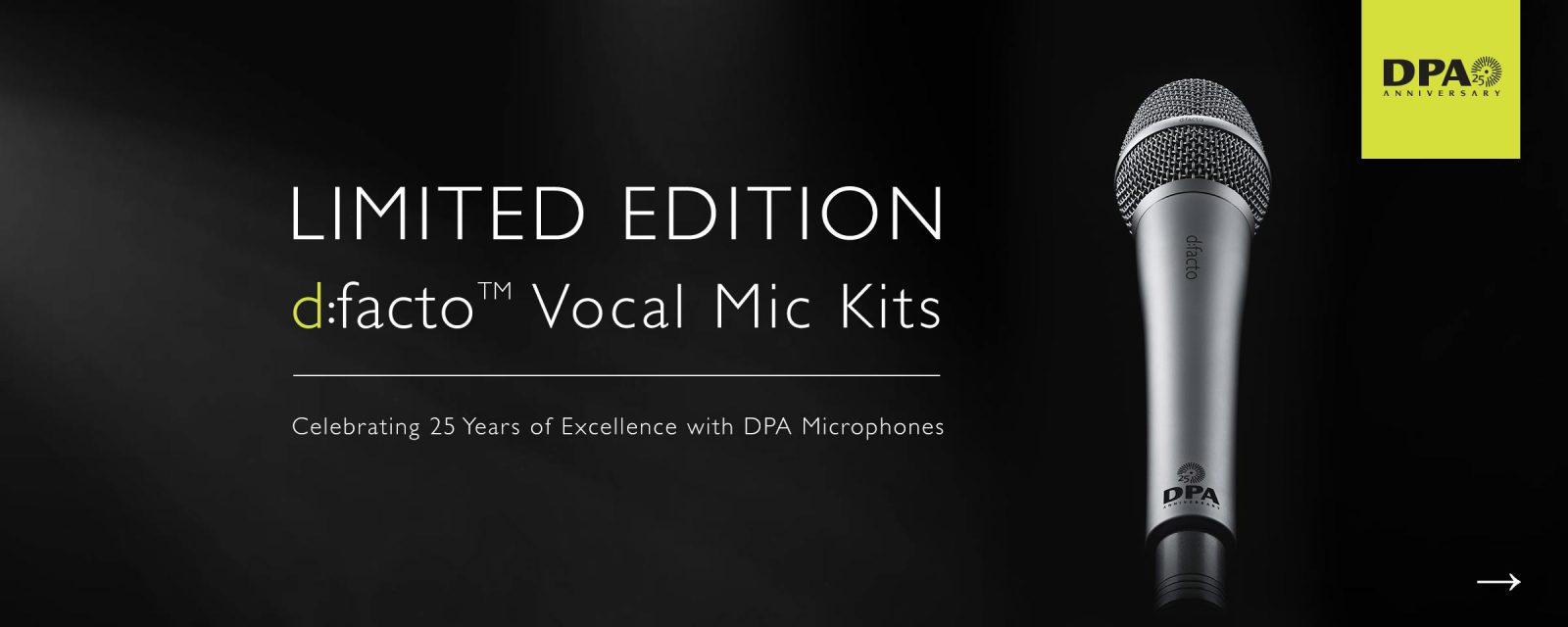 DPA d:facto™ 25th Anniversary Kits