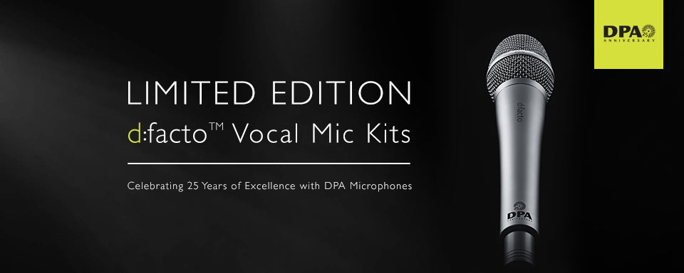 DPA d:facto™ 25th Anniversary Mic Kits