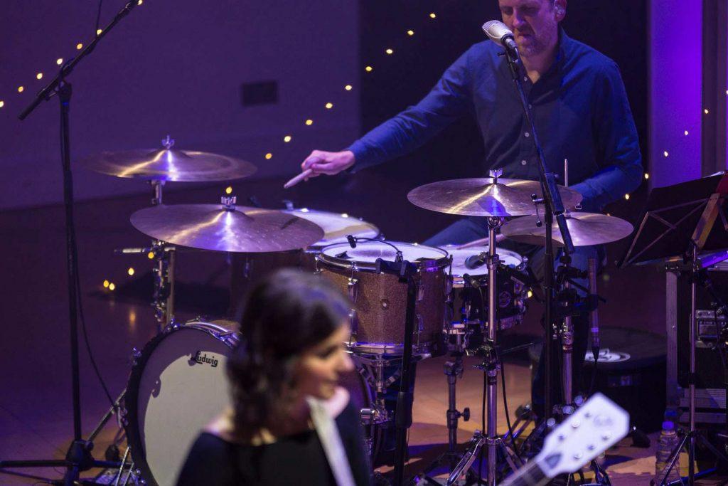 Katie Melua's drum setup