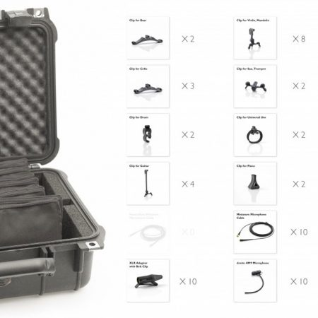 DPA d:vote Classic Touring Kit 10-piece Mic Clips