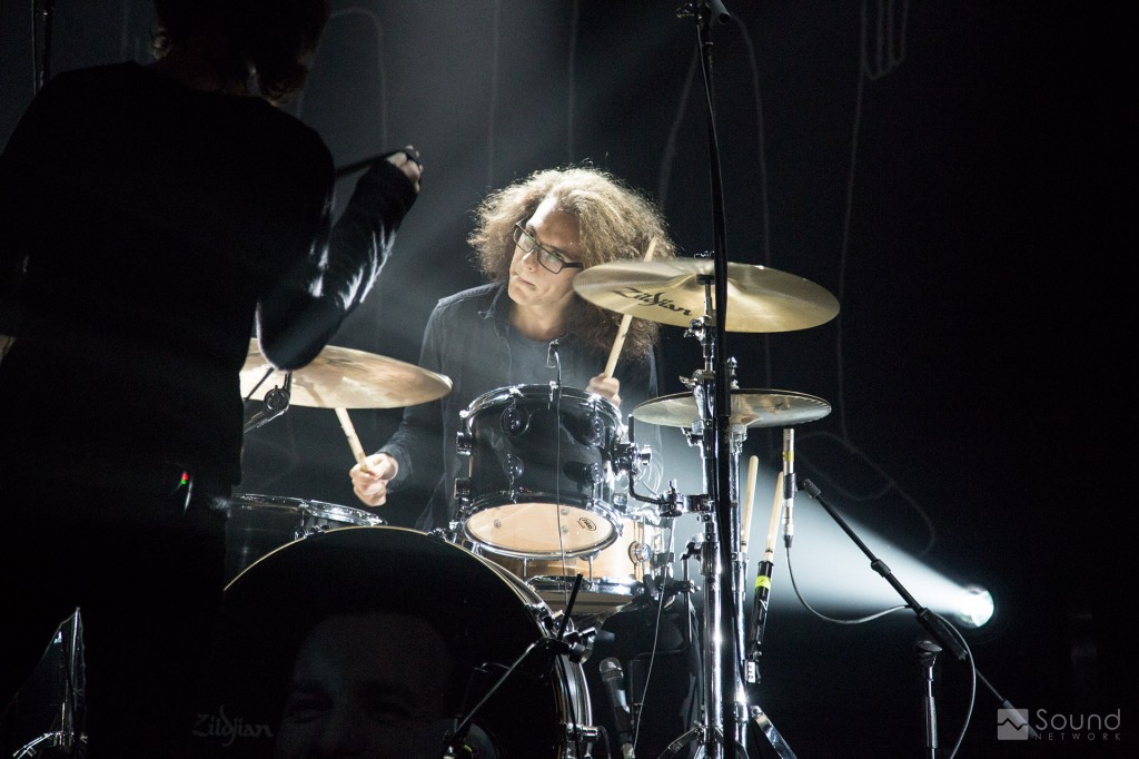 Catfish and the Bottlemen Drummer with d:vote™ 4099D mics on his drumkit