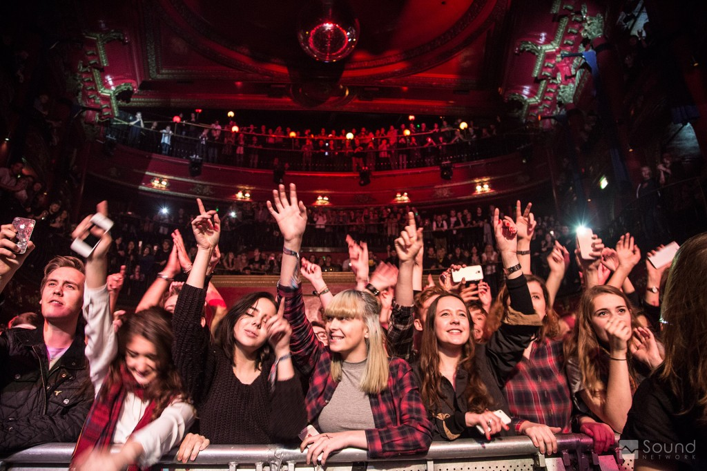 Appreciative crowd at KOKO London for Catfish and the Bottlemen
