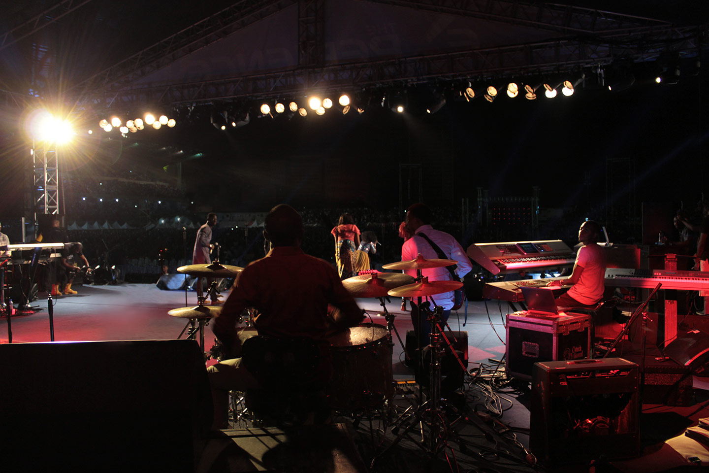 DPA d:vote drum mics on the drumkit at Experience 9 Lagos