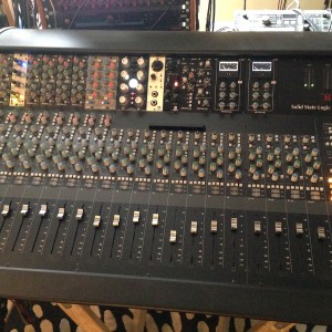 Meris 440 Mic Pre and Ottobit Bit Crusher in SSL XL-Desk Vienna