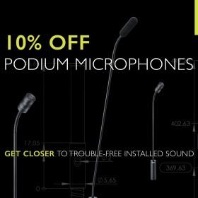 Get 10% off DPA Podium Microphones