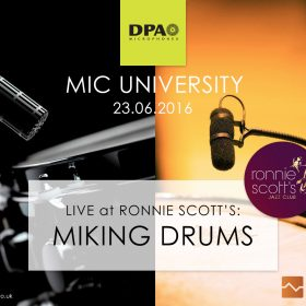 DPA Mic Uni Live at Ronnie's - Drums