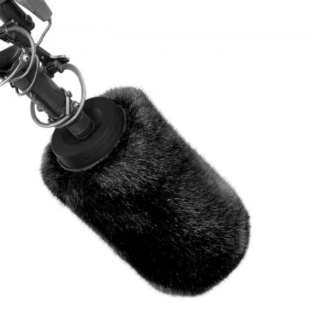 The Bubblebee Spacer Bubble with fur on shotgun mic