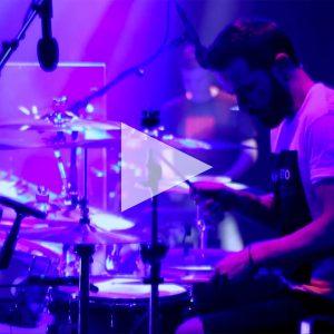 Anathema Drummer Daniel Cardoso with DPA drum mics