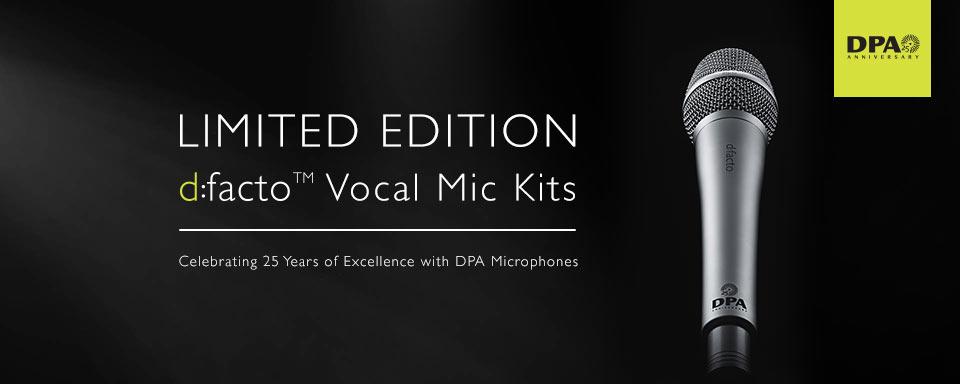 DPA d:facto™ 25th Anniversary Mic Kits