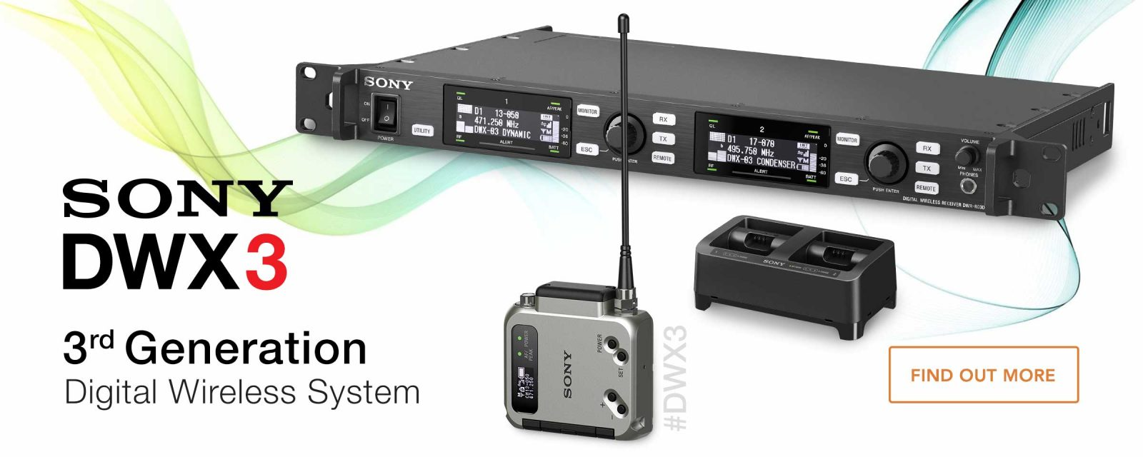 Introducing the new Sony DWX3 Digital Wireless