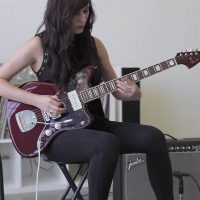 Noveller performs with the Meris Polymoon